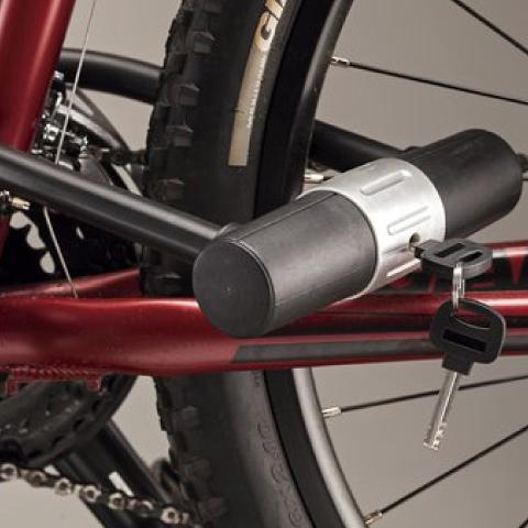 Candado de llave para bicicleta y motocicleta